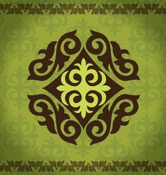 Set kazakh asian ornaments and patterns vector