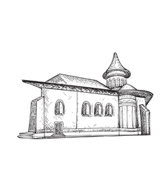 Sketch of Building Hand drawn vector image