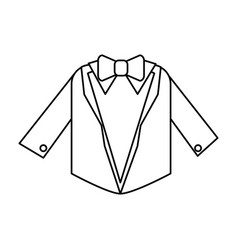 Suit with bowtie icon image vector