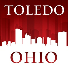 Toledo Ohio city skyline silhouette vector image