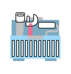 Tool box with tools vector