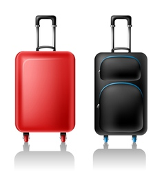 Two suitcases vector image vector image