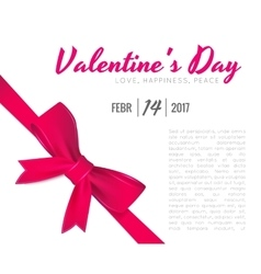 Valentine s Day celebratory background vector image vector image