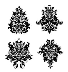 Vintage damask patterns vector