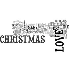 Why can t everyday be like christmas text word vector