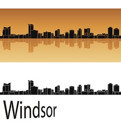 Windsor skyline vector