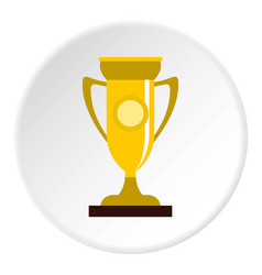 Winning cup icon circle vector