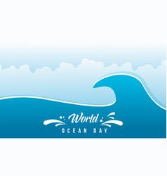World ocean day flat design vector