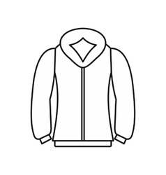 Sweatshirt icon in outline style vector
