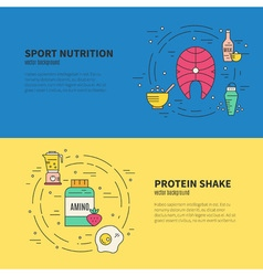 Sport nutrition banner vector