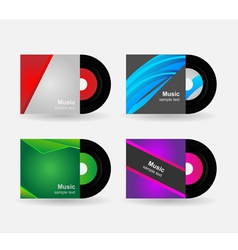 Set - vinyl with cover vector image