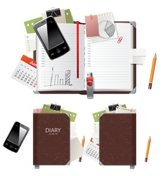 office diary vector image