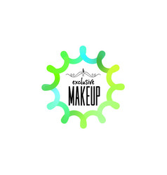 Badge as part of the design - cosmetics logo vector