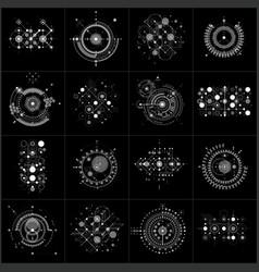 Set of modular bauhaus gray backgrounds created vector