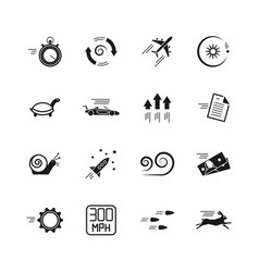 Velocity speed and performance icons vector
