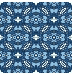 Seamless blue retro pattern background vector