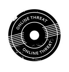 Online threat rubber stamp vector
