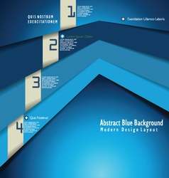 Modern blue design template vector