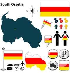 South Ossetia map vector image