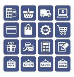 Shopping icons set vector