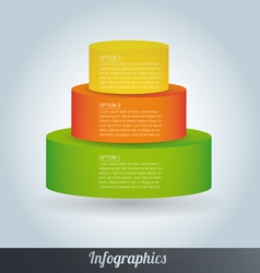 3d progress template vector image vector image