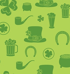 Seamless background for st patricks day the vector
