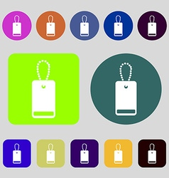 Army chains icon sign 12 colored buttons flat vector