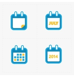 Calendar icons on white vector