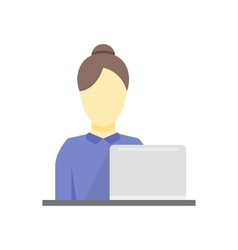 Business woman working icon vector image