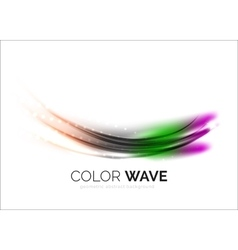 Blurred wave design elements vector