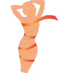 Body ribbon vector