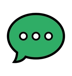 Chat speakbox bubble isolated flat icon vector