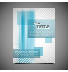 Abstract business brochure template colorful vector