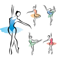 Balet dancer vector