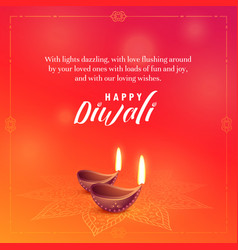 Beautiful diwali wishes background design vector
