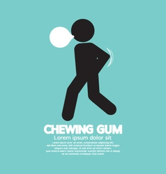Black symbol chewing gum vector