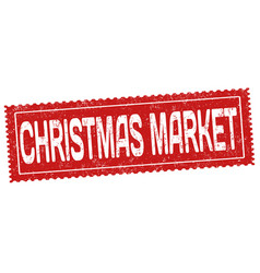 christmas market grunge rubber stamp vector image