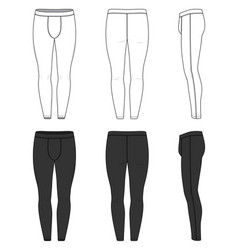 Clothing set of training tights vector