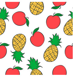 Collection of fruit pattern style vector