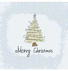 Doodle card - abstract christmas tree vector image vector image