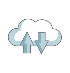 Download and upload to cloud icon symbol vector