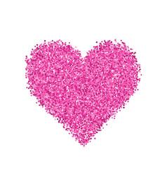 Glitter pink heart vector