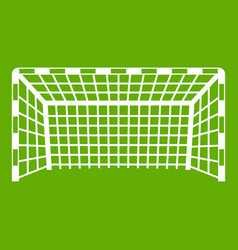 Goal post icon green vector