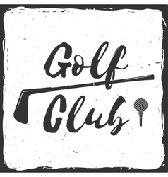 Golf club concept vector image vector image