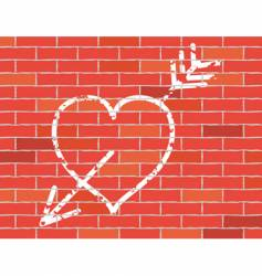 heart and arrow icon vector image vector image