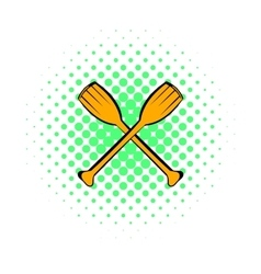 Paddle icon comics style vector