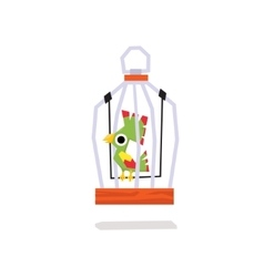 Parrots in a cage vector