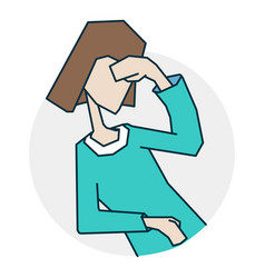 Person dizzy and headache vector