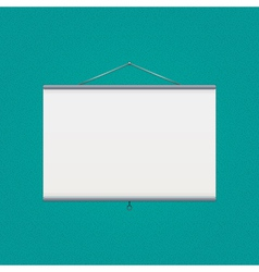 projector screen over green vector image