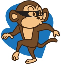 Thief monkey vector